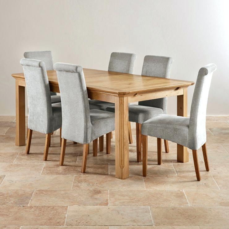 Solid Oak Dining Table And 6 Chairs – Mitventures (Image 17 of 20)