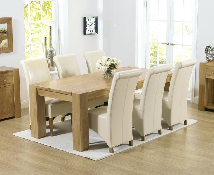 Solid Oak Dining Table And Chairs – Mitventures (Image 18 of 20)