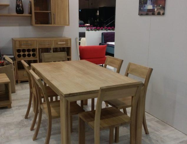 Solid Oak Dining Table With 6 Chairs • Soligna Pertaining To Recent Solid Oak Dining Tables And 6 Chairs (Image 17 of 20)