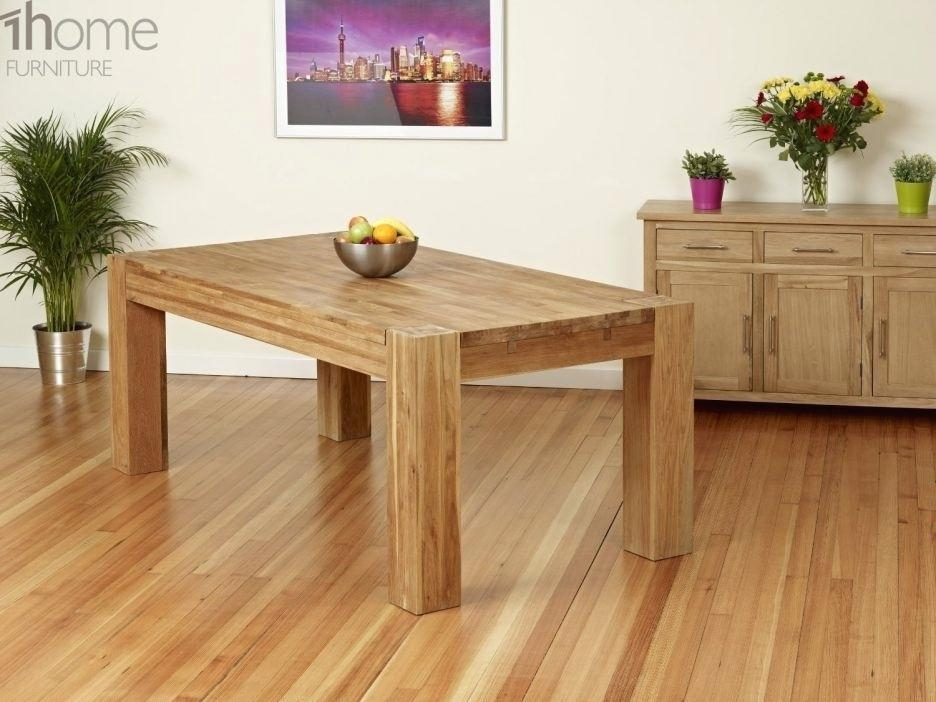 Solid Oak Pedestal Dining Table – Mitventures (View 20 of 20)