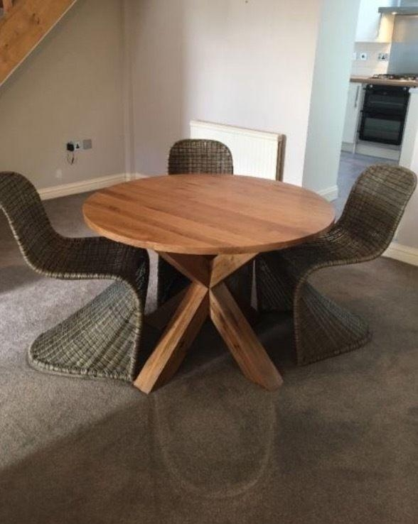 Solid Oak Round Dining Table Part Of The Hudson Range From Next Inside Hudson Round Dining Tables (View 11 of 20)