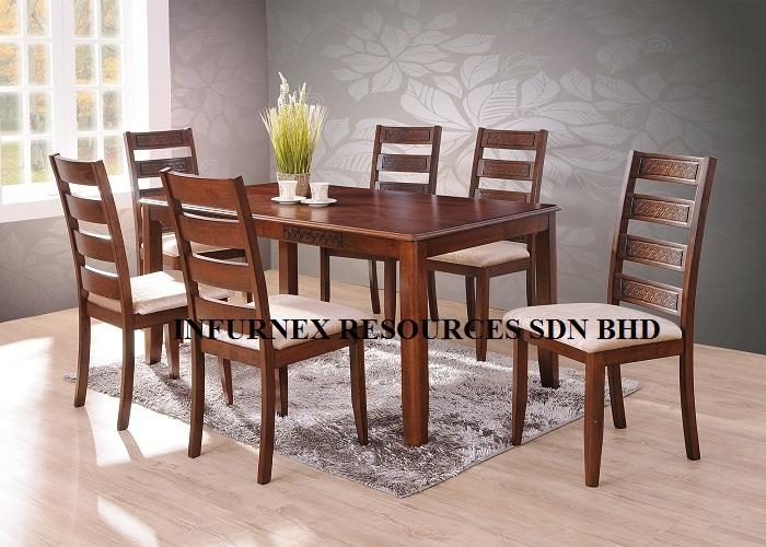 Solid Rubberwood,dining Set (1+6),dining Table,dining Chair – Buy For 2017 Wood Dining Tables And 6 Chairs (Image 18 of 20)