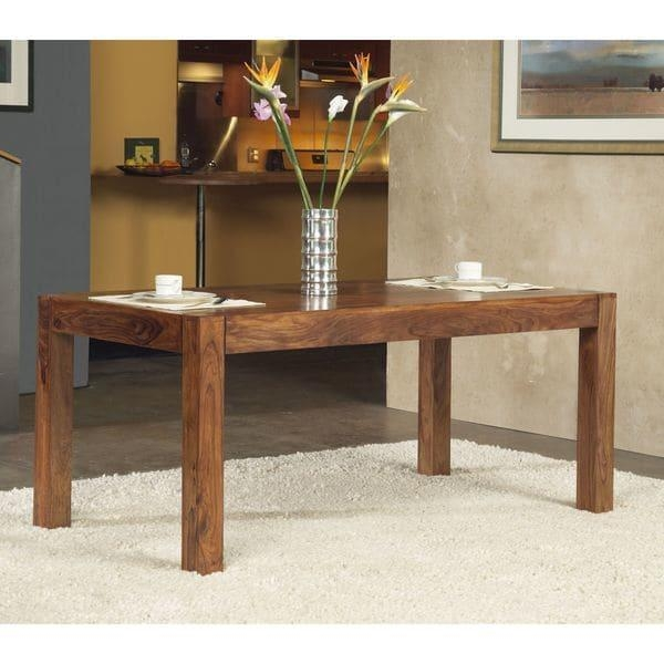 Solid Sheesham/ Indian Rosewood Rectangular Dining Table – Free For Indian Wood Dining Tables (Image 19 of 20)