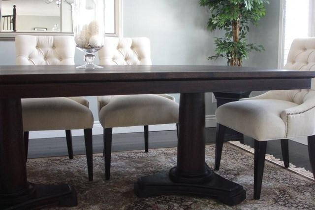Solid Wood Dining Room Furniture Inside Most Popular Solid Wood Dining Tables (Image 12 of 20)