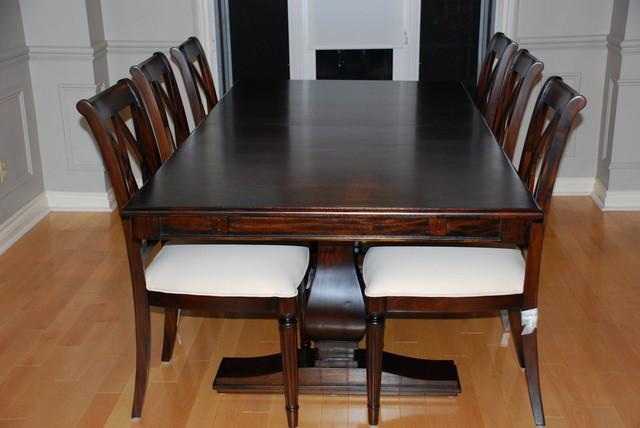 Solid Wood Dining Room Furniture Modern Dining Tables With For Most Current Wood Dining Tables (Image 16 of 20)