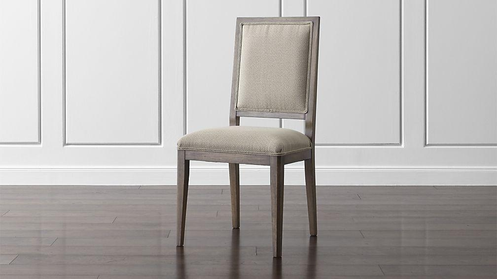 Sonata Pinot Lancaster Grey Dining Side Chair | Crate And Barrel Pertaining To Newest Grey Dining Chairs (View 12 of 20)