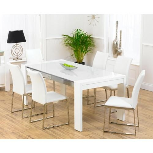 Sophia White High Gloss Dining Table With Latest White High Gloss Dining Tables (Image 17 of 20)