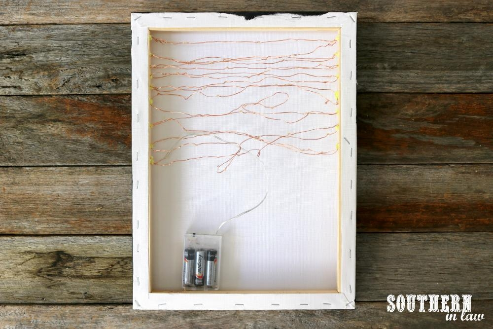 Southern In Law: Diy: Easy Canvas Light Box Tutorial (Made For Pertaining To Wall Light Box Art (Image 15 of 20)