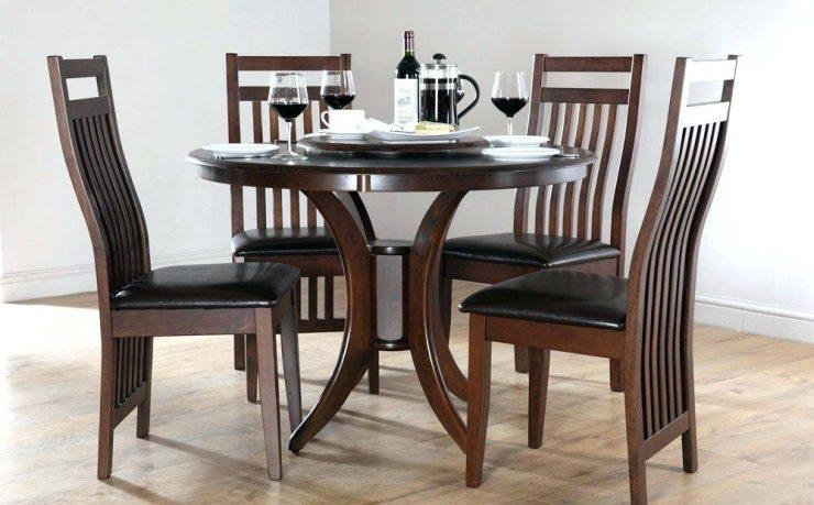 Spectrum Round Black Glass Dining Table With 4 Chairs Dining Table Inside Most Up To Date Black Glass Dining Tables And 4 Chairs (View 19 of 20)