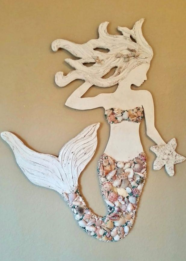 Splendid Trendy Wall Mermaid Wall Decor Mermaid Wall Decor Wall Within Wooden Mermaid Wall Art (View 18 of 20)