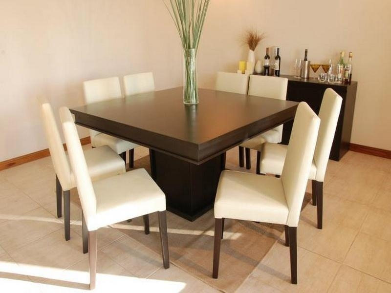 Square 8 Seater Dining Table – Foter Regarding Latest Black 8 Seater Dining Tables (Image 19 of 20)