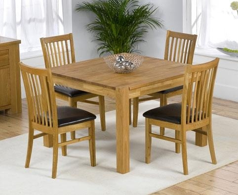Square Dining Tables For 4 – Insurserviceonline Inside Best And Newest Square Oak Dining Tables (View 3 of 20)