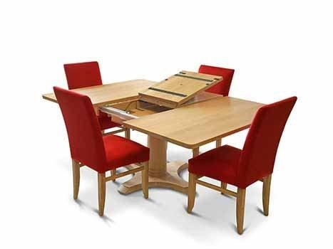 Square Dining Tables In Solid Oak & Walnut, Extending Square Tables With Regard To Most Current Square Oak Dining Tables (Image 15 of 20)