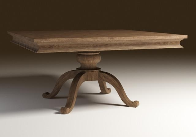 Square Oak Dining Table (Image 18 of 20)