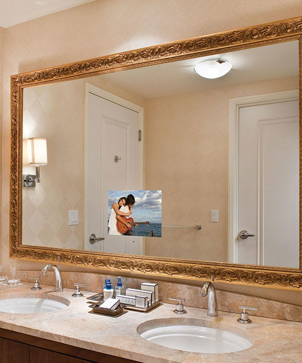Stanford Bathroom Mirror Tv – Electric Mirror – Water Resistant Intended For Safety Mirrors For Bathrooms (View 7 of 20)