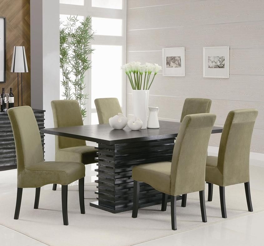 Stanton Black And Gray Wood Dining Table Set – Steal A Sofa Pertaining To Most Popular Black Wood Dining Tables Sets (Image 20 of 20)