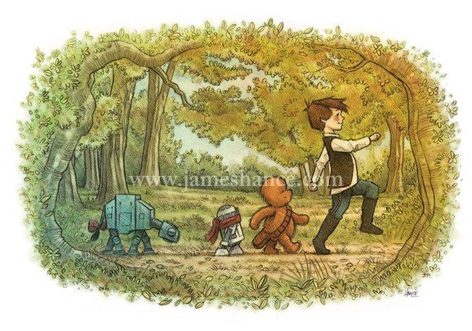 Star Wars Winnie The Pooh Art | Popsugar Tech With Regard To Classic Pooh Art (Image 18 of 20)
