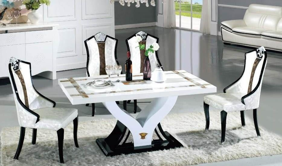 Startling Marble Dining Table Set | All Dining Room Intended For Latest Marble Dining Chairs (Image 19 of 20)