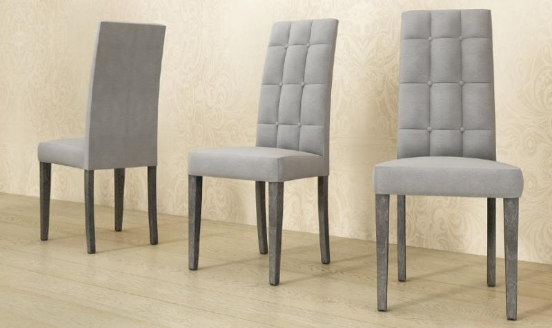 Status Sarah Grey Dining Chair – Home Living With Newest Grey Dining Chairs (Image 20 of 20)