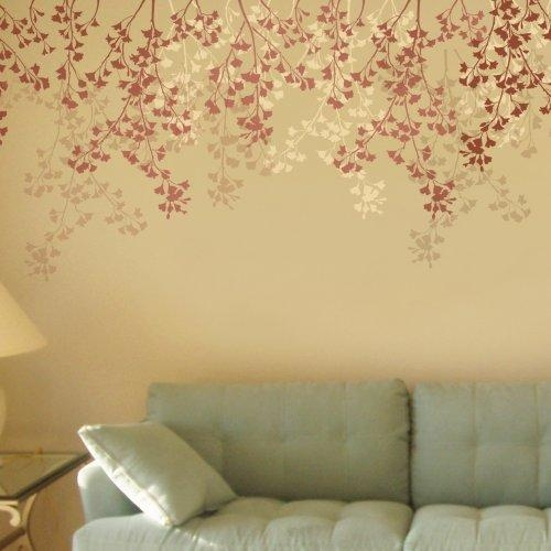 Stencil For Walls Weeping Cherry – Reusable Stencils, Not Wall Intended For Stencil Wall Art (Image 13 of 20)