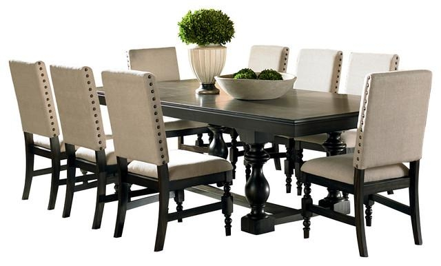 Steve Silver Leona 9 Piece Dining Room Set – Traditional – Dining Pertaining To Most Up To Date Dining Sets (View 9 of 20)