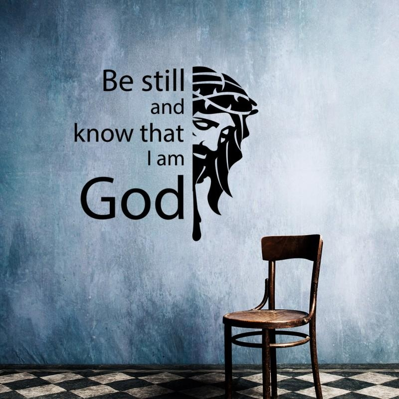 Still And Know That I Am God | Christian Vinyl Wall Art, Decal, Decor Regarding Be Still And Know That I Am God Wall Art (Image 17 of 20)