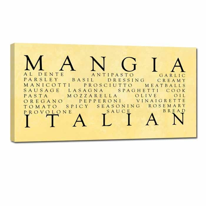 Stock Wall Art Prints And Canvas Archives – Geezees Canvas Pertaining To Italian Words Wall Art (Image 15 of 20)