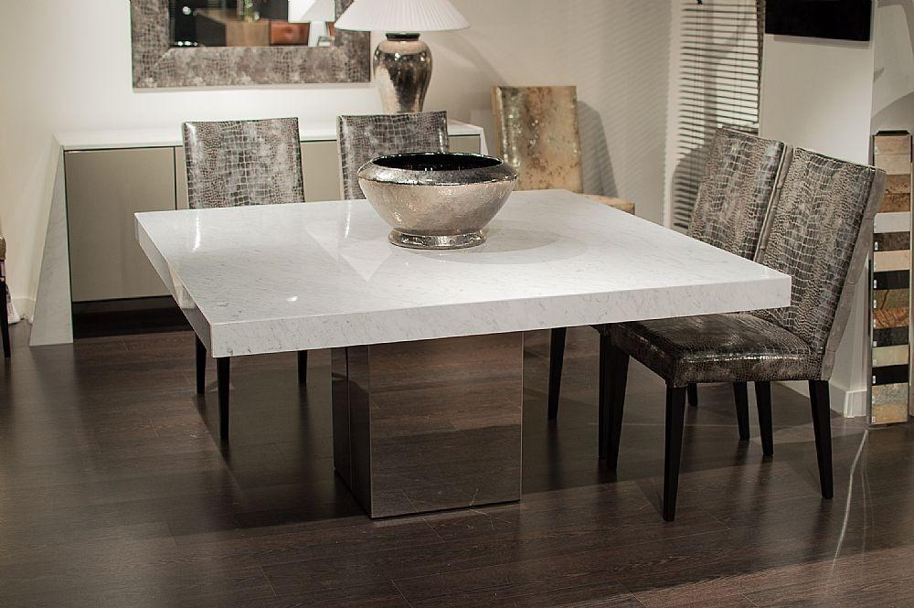 Stone International – 3266/sq – Dining Table – Square – Cortina Pertaining To Current Stone Dining Tables (Image 15 of 20)