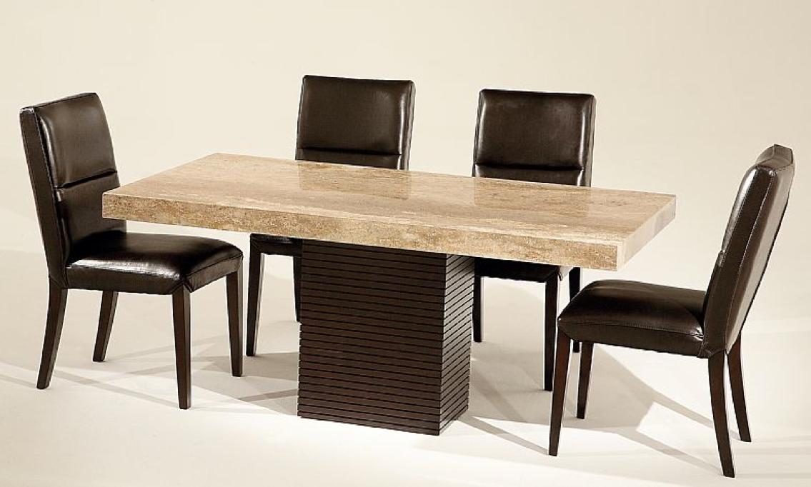 Stone International – 8046/m – Dining Table – Rectangle – Walnut In Most Current Stone Dining Tables (Image 16 of 20)