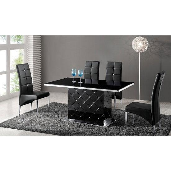 Store – Black Gloss Furniture Throughout Recent Black Gloss Dining Tables And Chairs (Image 18 of 20)