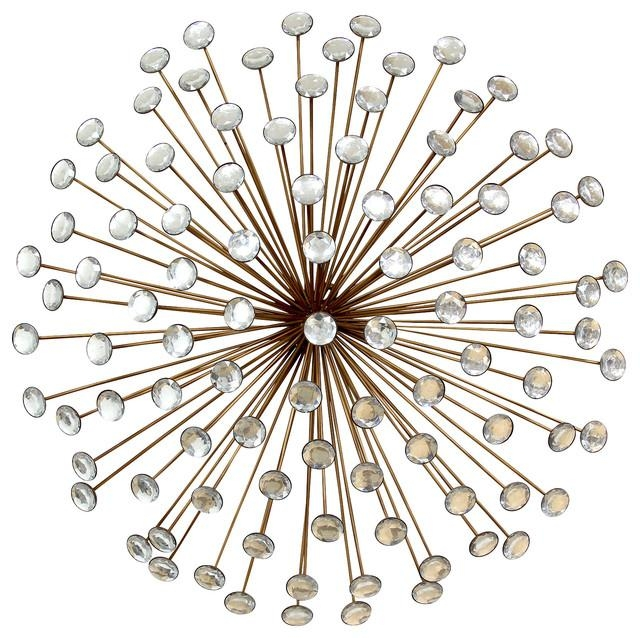 Stratton Home Decor Bronze Acrylic Burst, Wall Mirror – Midcentury Regarding Silver Starburst Wall Art (Image 8 of 20)