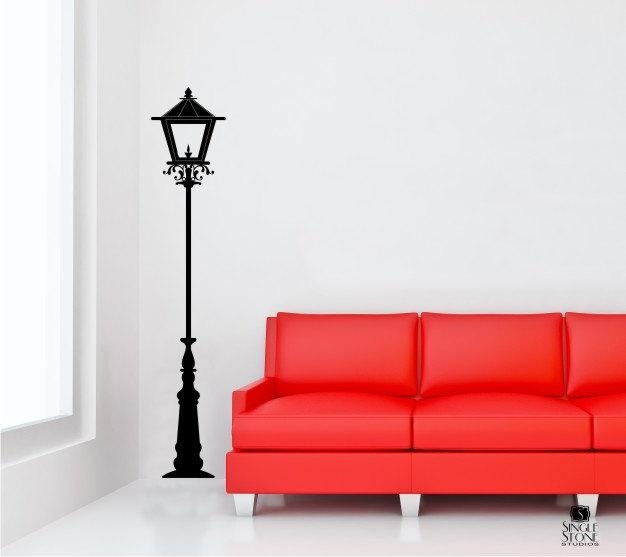 Street Lamp Wall Decal Light Lantern Vinyl Wall Stickers Art In Street Wall Art Decals (Image 15 of 20)