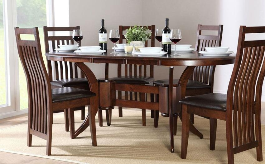 Stunning Dark Wood Dining Tables And Chairs Dining Room Table In Most Current Dining Tables Sets (View 4 of 20)