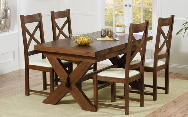 Stunning Design Dark Wood Dining Table Peaceful Inspiration Ideas For 2017 Dark Wood Dining Tables And Chairs (View 4 of 20)