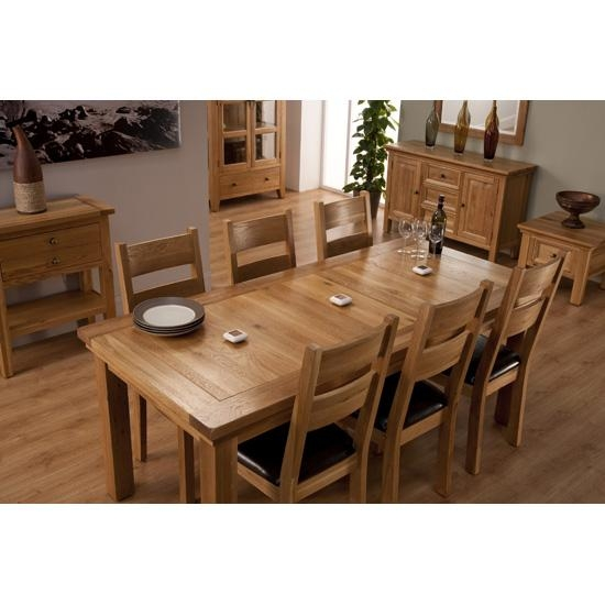Stunning Extendable Oak Dining Table And 6 Chairs 86 In Old Dining Regarding 2018 Oak Dining Set 6 Chairs (Image 19 of 20)