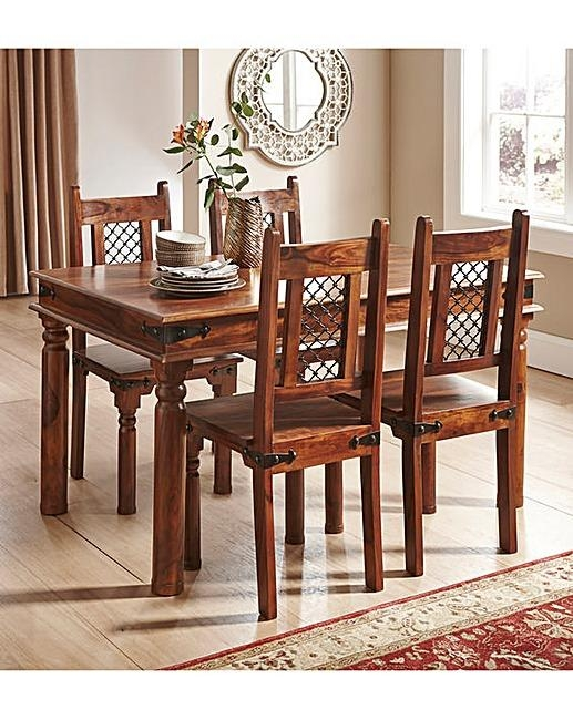 Stunning Sheesham Dining Table And 4 Chairs 66 About Remodel Small Inside Newest Sheesham Dining Tables And 4 Chairs (View 3 of 20)