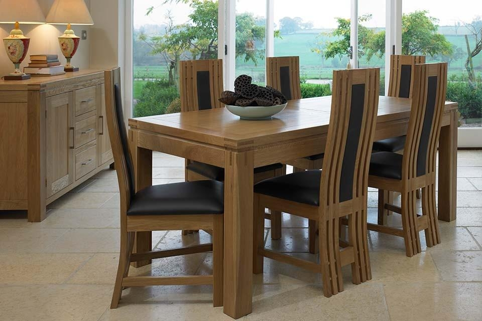 Stunning Solid Oak Extending Dining Table And 4 Chairs 69 About For Best And Newest Extendable Dining Tables And 4 Chairs (View 11 of 20)