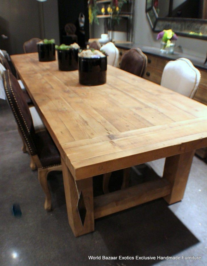 Stunning Thick Solid Wood Dining Table Have 9 Solid Wood Dining Regarding Most Recently Released Solid Wood Dining Tables (View 16 of 20)