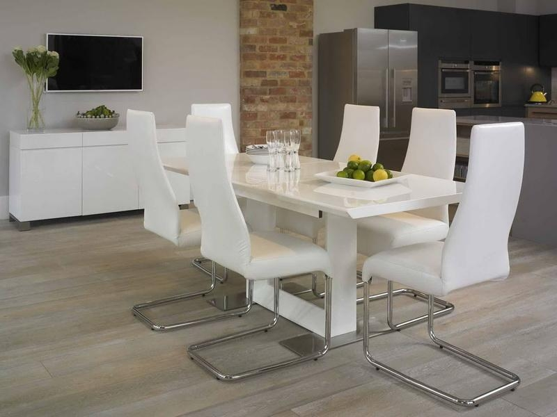 Stunning White Dining Table And Chairs On Small Suite Decoration Pertaining To Most Current White Dining Suites (Image 20 of 20)