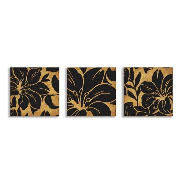 Stupell Industries Floral Print 3 Piece Canvas Wall Art Set | Wayfair Intended For 3 Piece Floral Wall Art (View 7 of 20)