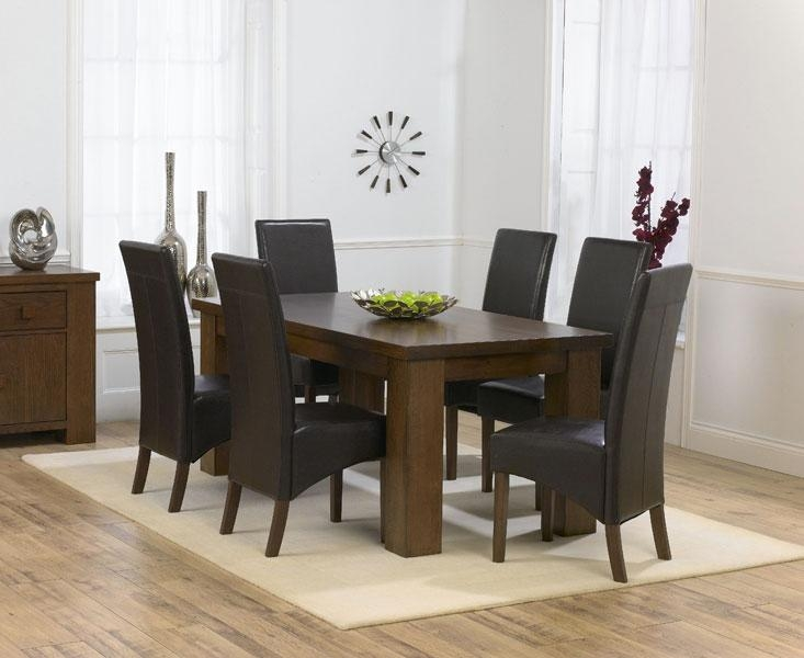Stylish Decoration Dark Brown Dining Table Pretty Design Dark For Most Recent Dark Dining Tables (Image 19 of 20)