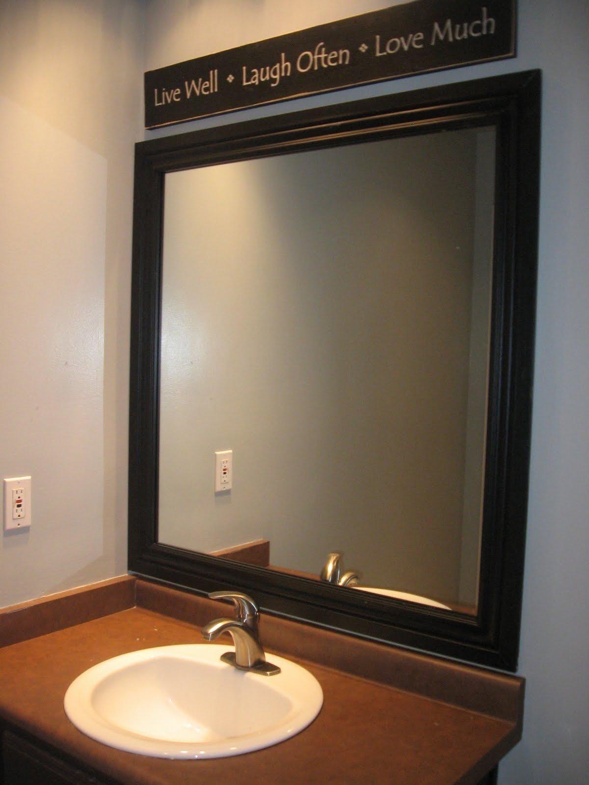 Stylish Framed Bathroom Mirrors | Home Designjohn In Frames Mirrors (Image 19 of 20)