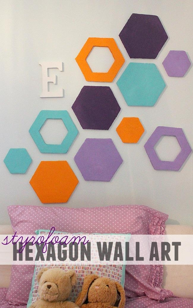 Styrofoam Hexagon Wall Art – Becoming Martha Throughout Styrofoam Wall Art (View 9 of 20)