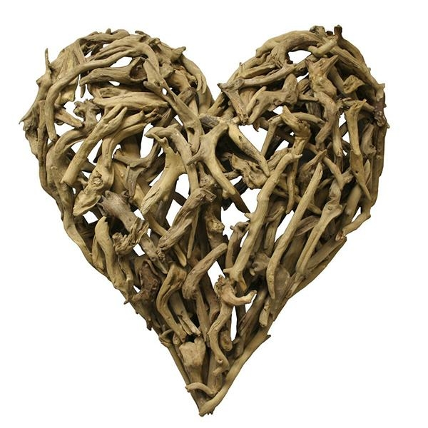 Sugarboo Designs Driftwood Heart Wall Art Ships Free With Driftwood Heart Wall Art (Image 17 of 20)