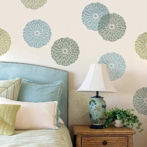 Summer Blossom Wall Art Stencil – Contemporary – Wall Stencils Pertaining To Stencil Wall Art (View 8 of 20)