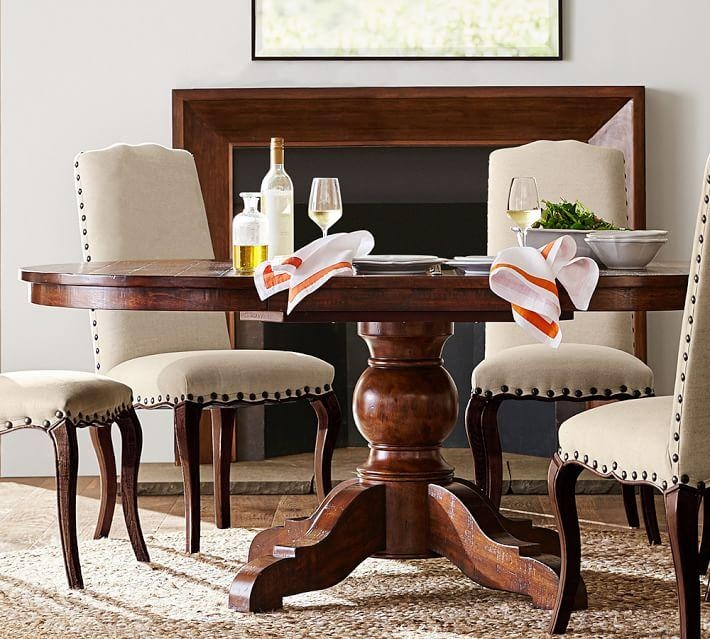 Sumner Extending Pedestal Dining Table | Pottery Barn In Most Current Pedestal Dining Tables And Chairs (Image 19 of 20)