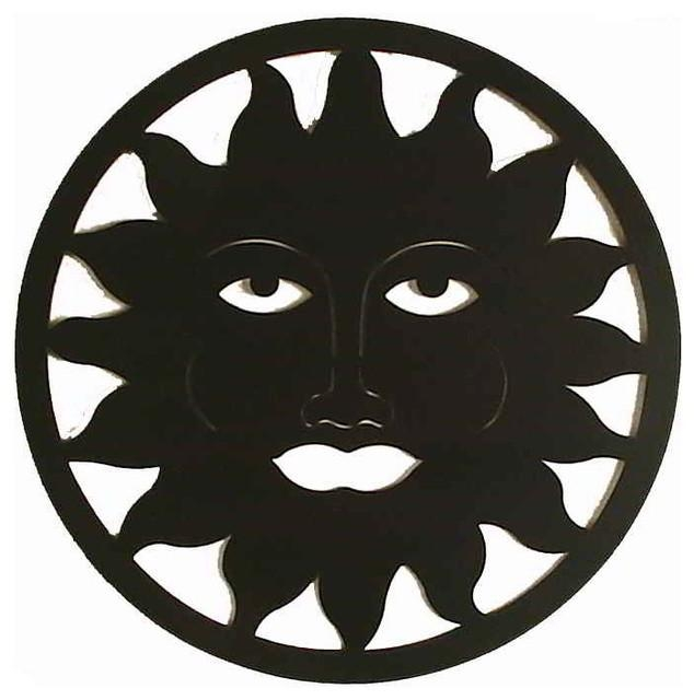 Sun & Moon Celestial Metal Wall Art Medallion – Transitional Throughout Sun And Moon Metal Wall Art (Image 14 of 20)