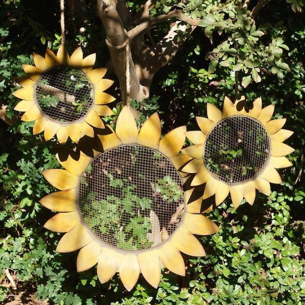 Sunflower Wall Decor | Metal Sunflowers | Garden Wall Art Antique In Metal Sunflower Wall Art (View 19 of 20)