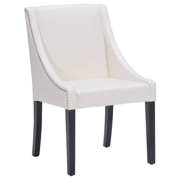 Sunpan '5West' Lucille Leather Dining Chair – Free Shipping Today Within Newest Ivory Leather Dining Chairs (View 16 of 20)