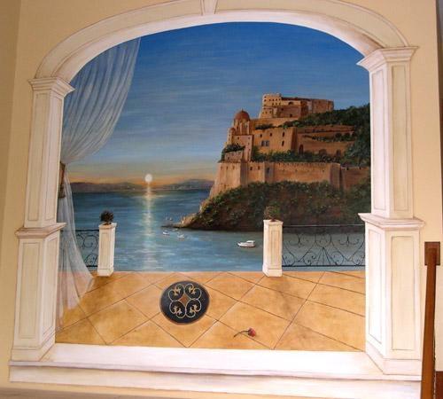 Sunset Wall Murals | Debbie Cerone | Murals Within Italian Art Wall Murals (Image 17 of 20)